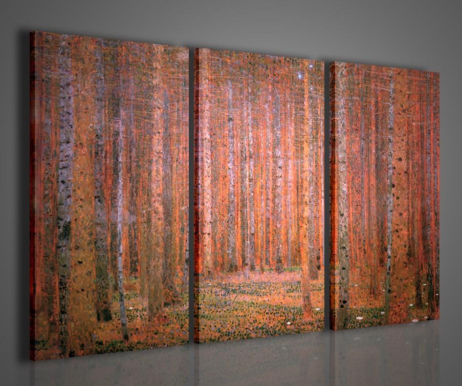 Gustav klimt foresta dei pini quadri moderni arredamento for Quadri per salotto moderno