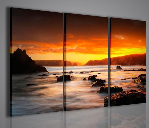 Quadri moderni quadri di natura e paesaggi gran paradise - Ikea quadri su tela ...
