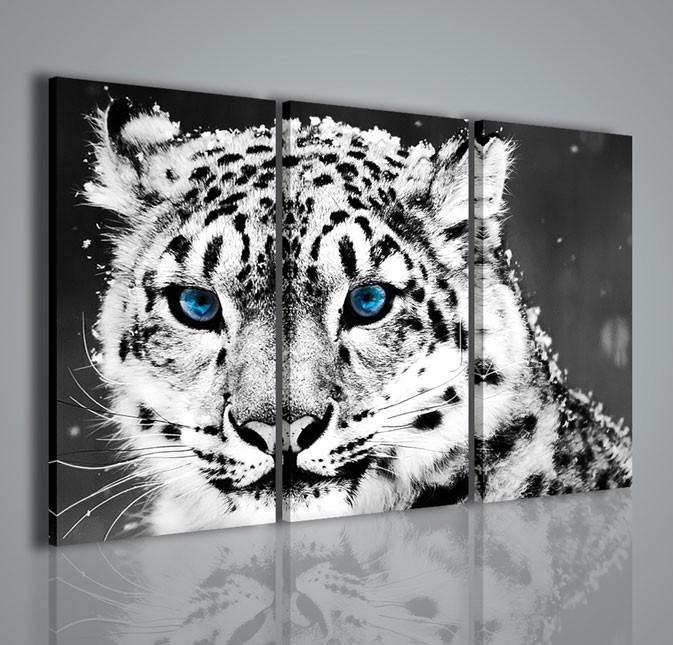 Quadri moderni quadri animali winter leopard quadri for Stampe quadri astratti