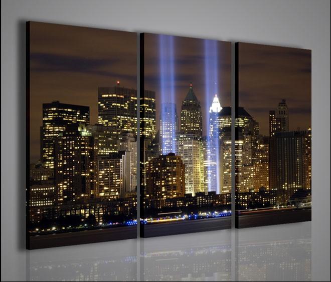 Quadri moderni quadri citt new york twin towers quadri - Quadri da parete moderni ...