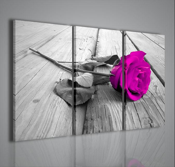 Quadri moderni quadri fiori e piante violet rose quadri for Quadri da arredamento moderno