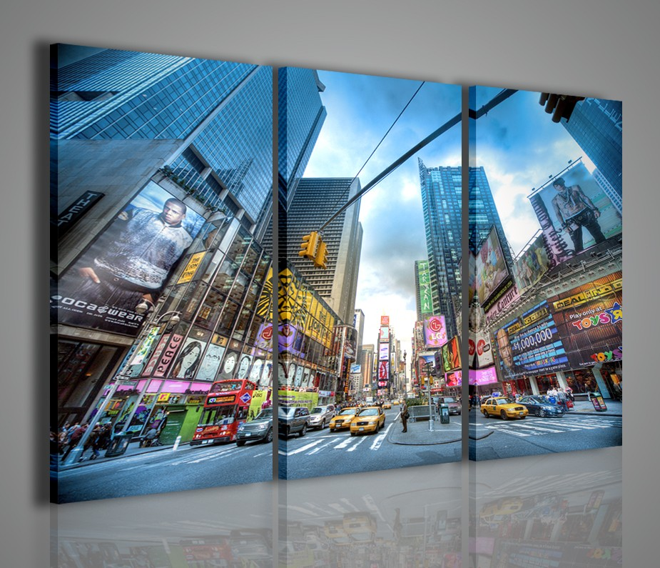 Quadro moderno times square new york arredamento moderno for Quadri da arredo