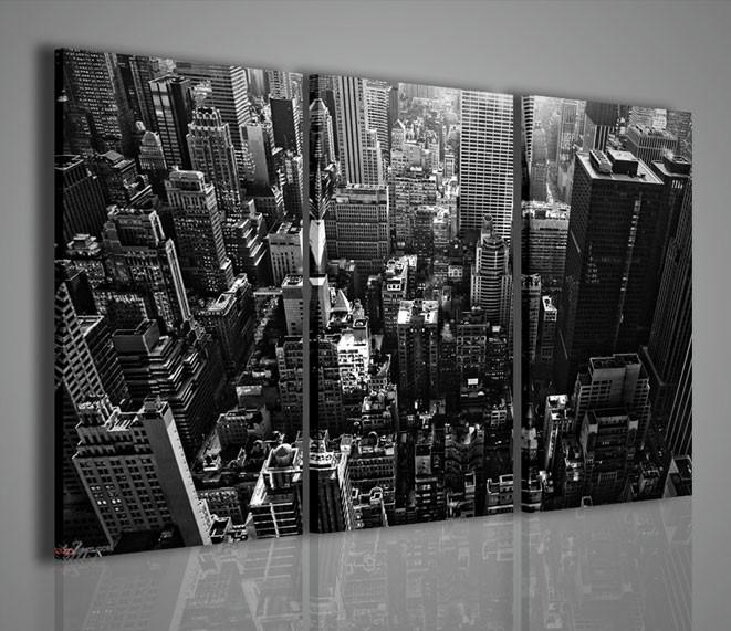 Quadri moderni quadri citt new york black and white 2 - Quadri da parete moderni ...