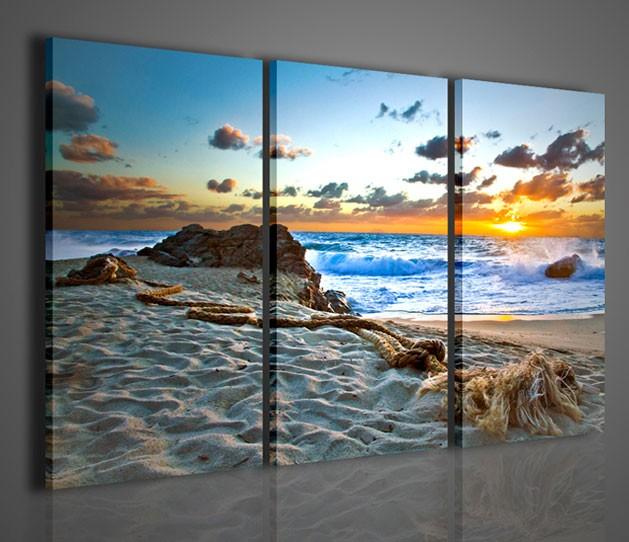Quadri moderni quadri di natura e paesaggi tramonto a for Quadri da arredamento moderno
