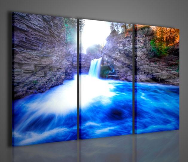 Quadri moderni quadri di natura e paesaggi blue waterfall for Quadri da arredamento moderno