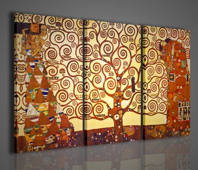 Quadri Moderni-Quadri Pittori Famosi-Klimt-L\'Albero Della Vita