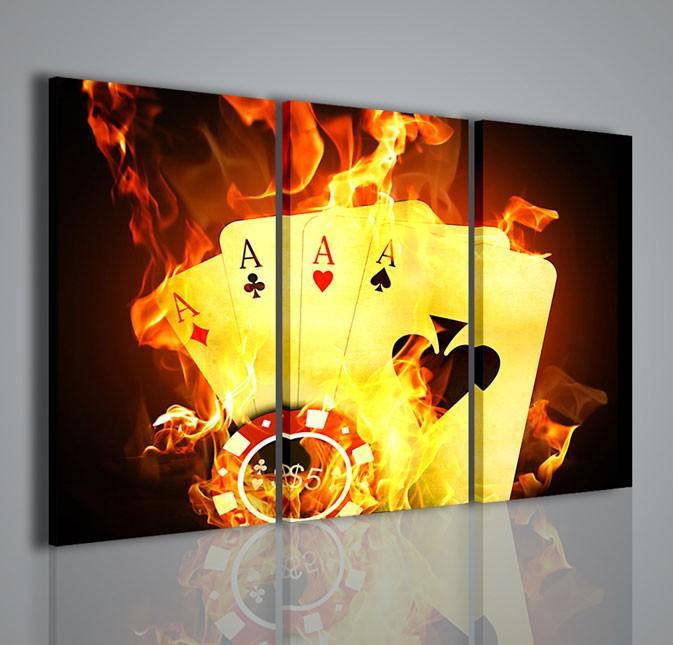 Quadri Moderni Quadri Sport E Giochi Poker Game Iv