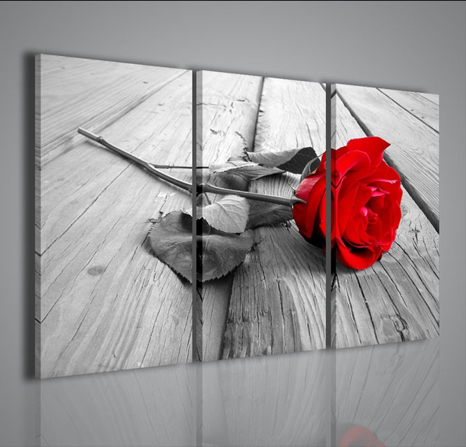 Quadri moderni quadri fiori e piante red rose wood for Immagini quadri astratti moderni