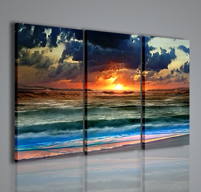 Quadri moderni quadri di natura e paesaggi tsunami - Ikea stampe e quadri ...