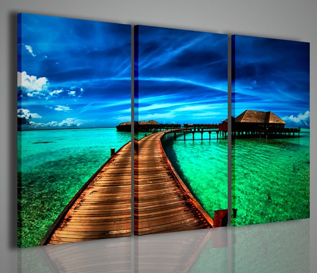 Quadri moderni quadri di natura e paesaggi maldive island for Quadri belli