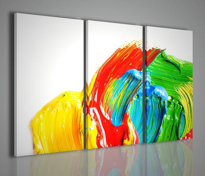 Quadri moderni quadri astratti fluoid quadri moderni su tela for Stampe quadri astratti