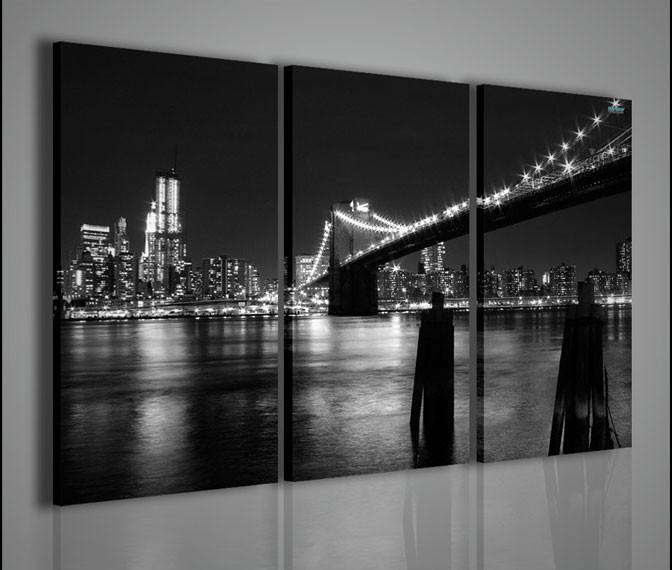 Quadri moderni quadri citt new york black and white 1 for Stampe arredamento moderno