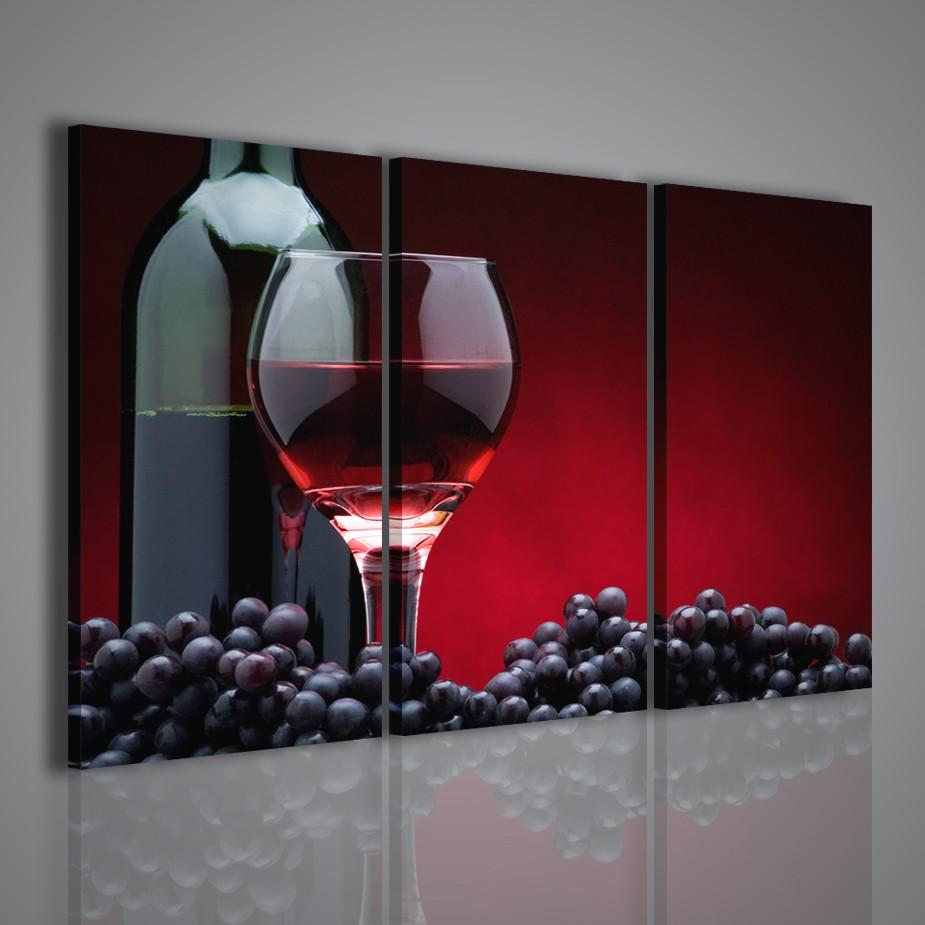 Quadri moderni arredamento enoteca bar locale vino quadro for Quadri componibili moderni