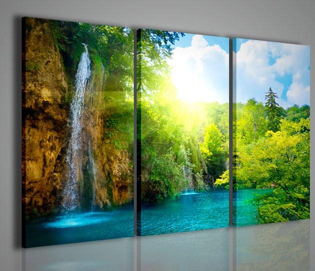 Quadri moderni quadri di natura e paesaggi waterfall i for Quadri da arredamento moderno