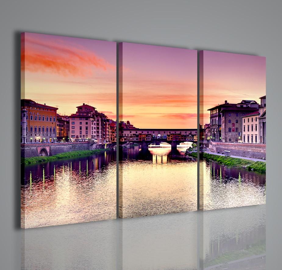 Firenze ponte vecchio quadri moderni su tela arreda in for Stampe arredo casa
