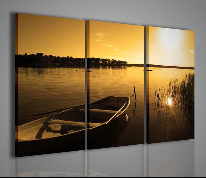 Quadri moderni quadri di natura e paesaggi morning on the for Stampe arredamento moderno