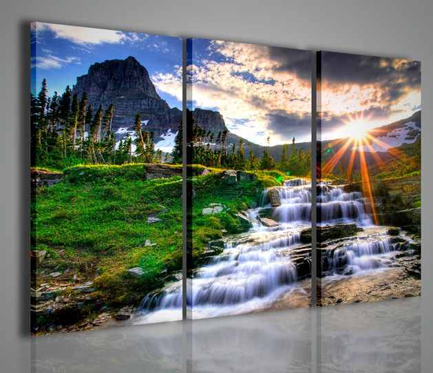 Quadri Moderni-Quadri di Natura e Paesaggi-Waterfall III ...