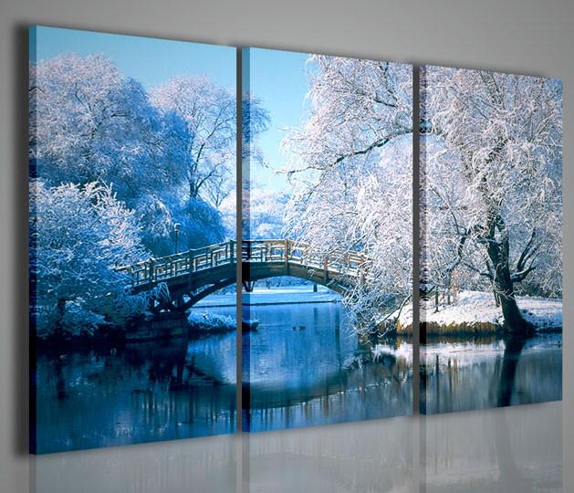 Quadri moderni quadri di natura e paesaggi winter scenary for Stampe da parete