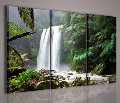 Quadri Moderni-Quadri di Natura e Paesaggi-Waterfall in Forest