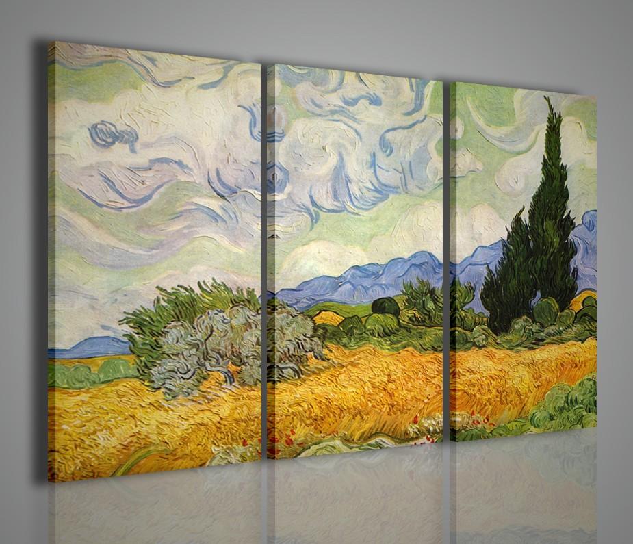 Quadro vincent van gogh riptoduzione su tela stampa quadri for Quadri per soggiorni moderni