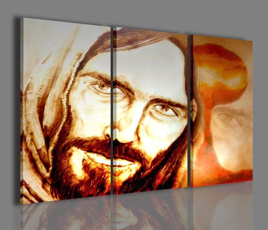 Quadri moderni capo letto quadro religioso arredamento - Quadri arredamento casa ...