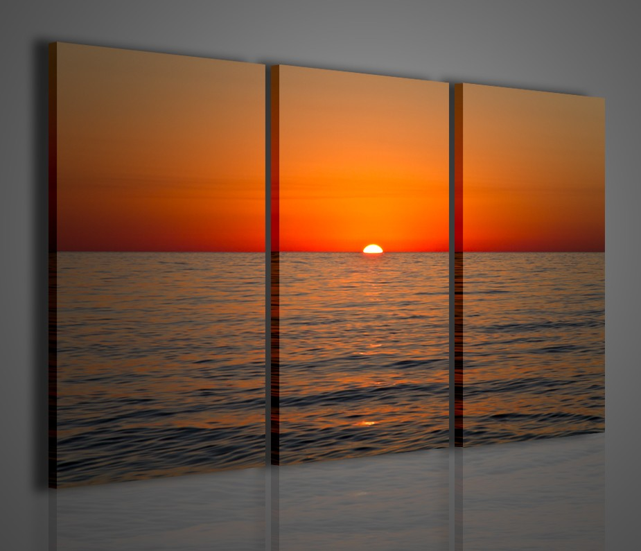 Quadro moderno tramonto tropea sunset quadri moderni for Quadri ikea