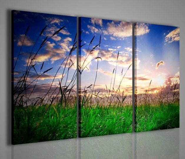 Quadri moderni quadri di natura e paesaggi tramonto su - Quadri da parete moderni ...