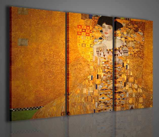 Quadri moderni quadri pittori famosi klimt ii la donna for Pittori astratti moderni